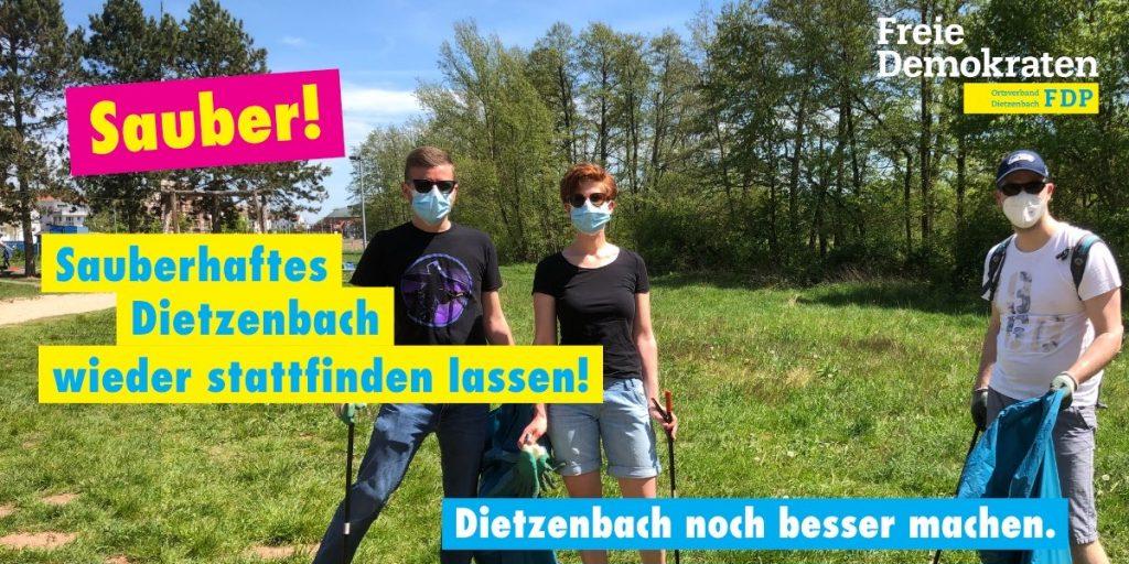 Sauberhaftes Dietzenbach wieder stattfinden lassen